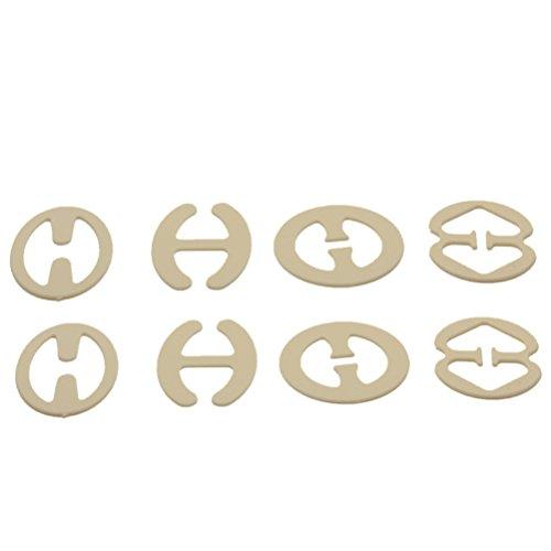 SUPVOX Clips de Sujetador Antideslizante Invisible para Tirantes de Sujetador 8 Piezas Transparente (Color de la Piel)
