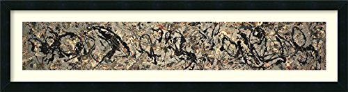 Framed Art Print, 'Number 10, 1949' by Jackson Pollock: Outer Size 42 x 11""
