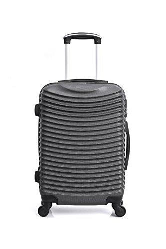 ヒーローエトナスーツケース、76 cm、97リットル、グレー(ダークグレー) B07DJQWW6M