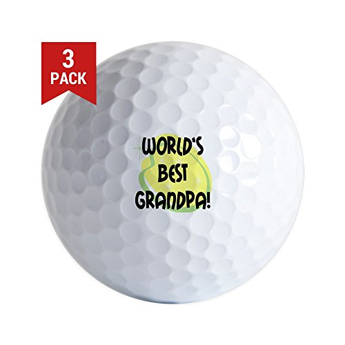 CafePress - World's Best Grandpa - Golf Balls (3-Pack), Unique Printed Golf Balls