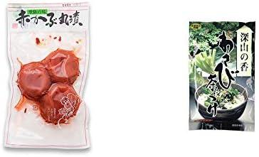 [2点セット] 赤かぶ丸漬け(150g)・特選茶漬け 深山の香 わさび茶づけ(10袋入)