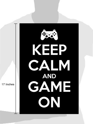 8b1824f51f0b Amazon.com  Damdekoli Keep Calm Game On Poster