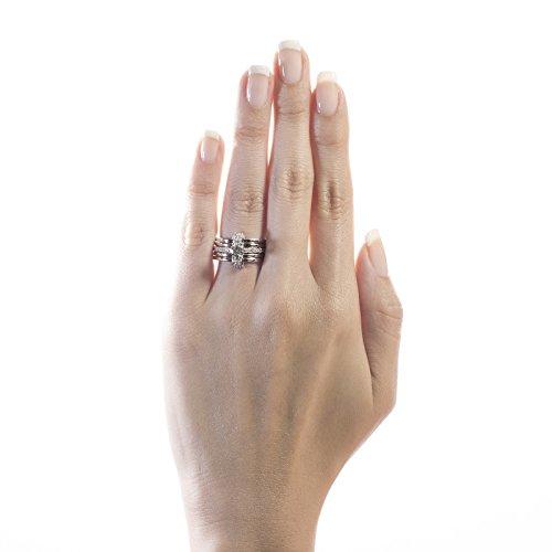Diamond Studs Forever - Bague en or blanc, jaune et rose 14 carats - diamant 1,5 carats - G-H/I1