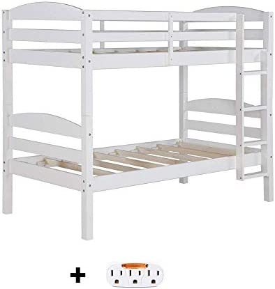 Better Homes and Gardens Converts to 2'stand-alone Twin Over Twin Wood Bunk Bed Bed Only in Black