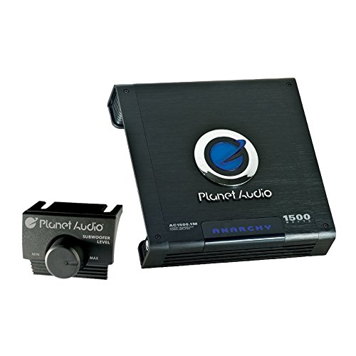 Planet Audio AC1500.1M Anarchy 1500 Watt, 2/4 Ohm Stable Class A/B, Monoblock, Mosfet Car Amplifier with Remote Subwoofer - Planet Shop Blue