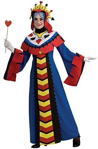 Rubie's Playing Card Queen Adult Costume, Blue, Large