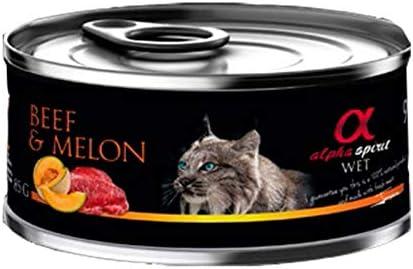 Alpha Spirit Feline Adult Buey Melon Lata 85Gr 85 g