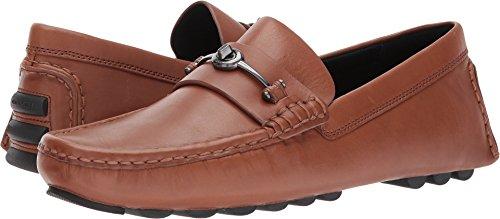 Coach Men's Crosby Turnlock Driver Leather Dark Saddle Shoe (Shoes Men Brown Coach)