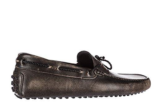 Tods Mens Läder Loafers Mockasiner Mina Färger Gommini 122 Svart
