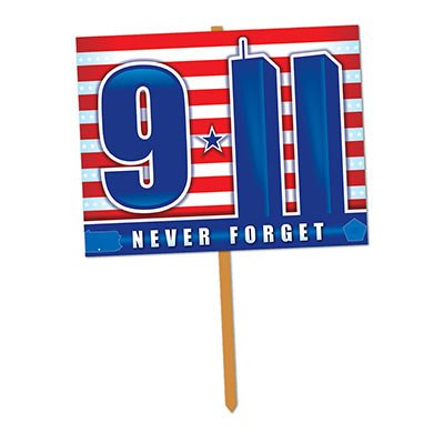 9/11 Yard Sign Party Accessory (1 -