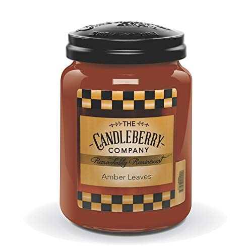 (Candleberry Amber Leaves, Fine Fragrance Candle for The Home, Large Glass Jar, 26 OZ)