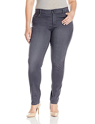 Lee Womens Plus Size Easy Fit Frenchie Skinny Jean, Smoke, (Easy Fit Jeans)