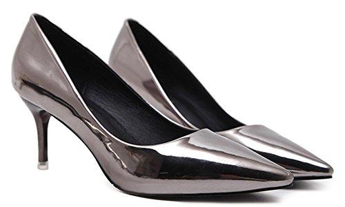 Basse Banquet Sexy Escarpins De Bout Aisun Fille Pointu Chaussures Femme Gris Yn56x0