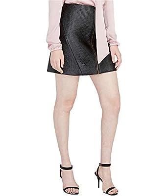 RACHEL Rachel Roy Womens A-Line Zip Front Mini Skirt