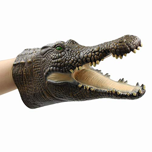 Head Only Puppet - Yolococa Hand Puppet Toys,Soft Rubber Realistic Raptor Crocodile Head