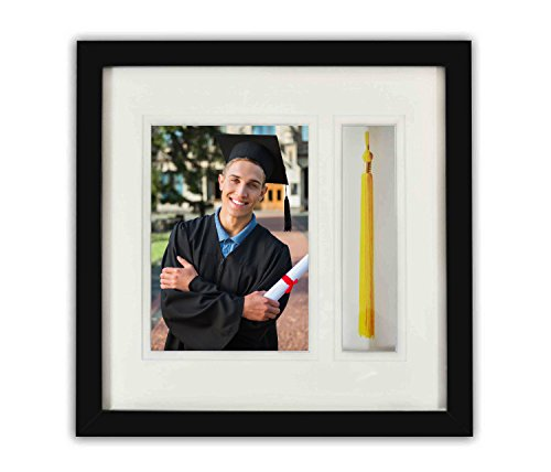 (Golden State Art, Graduation Shadow Box Frame with Double Mat, Real Glass and Tassel Insert,)