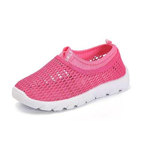 Price comparison product image BTDREAM Boy and Girl's Aqua Shoes Breathable Slip-On Casual Sneakers For Running Pool Beach Pink Size 26(Toddler/Little Kid)