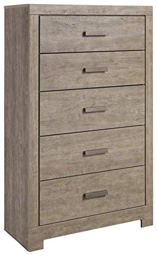 Antique Finish Textured Pewter - Ashley Furniture Signature Design - Culverbach Chest of Drawers - Gray