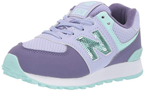 New Balance Girls 574v1 Lace-Up Sneaker, Clear Amethyst/, 13 B W US Toddler (1-4 Years)