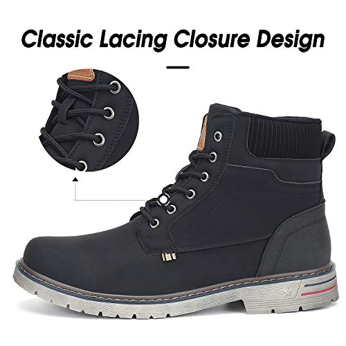 Mishansha Mens Womens Winter AntiSlip Leather Warm Snow Boots Water Resistant Shoes Fur Lined