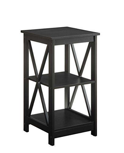 Convenience Concepts Oxford End Table, Black (Mahogany Office Console Table)