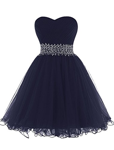 JAEDEN Mini Princess Strapless Homecoming Cocktail Gown Party Dress S (Poofy Princess Dress)