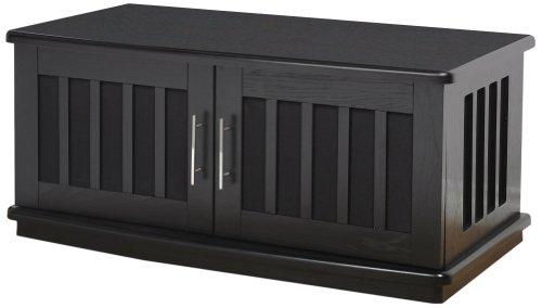 PLATEAU LSX-D 42 B Wood TV Stand, 42-Inch, Black Oak - Tv Stand Plateau Metal