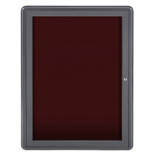 Ghent 34'' x 24'' Ovation Letter Board Burgundy, Gray Frame (OVG1-BBG) by Ghent