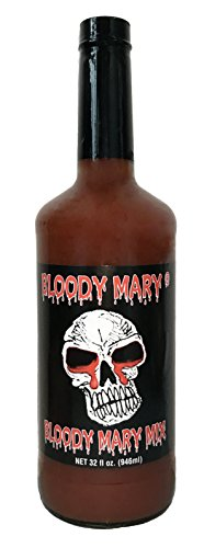 [Bloody Mary Mix By Bloody Mary 32 Oz- Richly Flavored Seasoning For Vodka Cocktails, Beverages & Refreshing Drinks - Premium Quality Ingredients Combination - Unique Skull Label] (Premium Vodka)