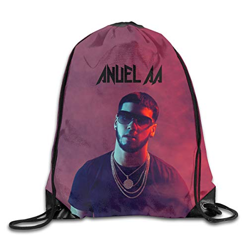 Oyangqu Sports Backpack, Anuel-AA Fashion Trend, Polyester Sports Bag,Net Red Part,Men's Handbag,Ladies,Teenager,Adult,Outdoor Work,Office,Lunch Box
