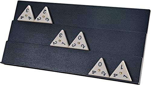 and 4 Racks Tiles with Brass Spinners Tri-Ominos Tin