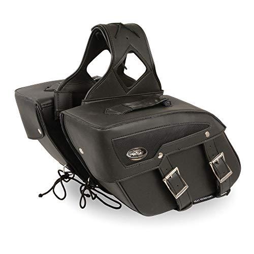 - Milwaukee Performance SH65801ZB Black Medium Zip-Off PVC Slanted Throw Over Saddle Bag