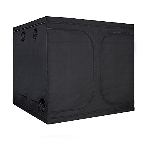 "TopoGrow Big Sized 96""X96""X80"" Grow Tent 600D High-Reflective Hydroponic Grow Room/Hut System Kit for Plant Growing W/Plastic Corners"