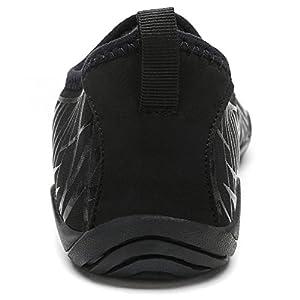 Cheston Men's Barefoot Quick Dry Aqua Water Shoe (7 D(M) US, Black)