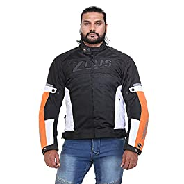 Zeus Motorcycle Gear Venom Smart Riding Jacket Black & Orange- Large