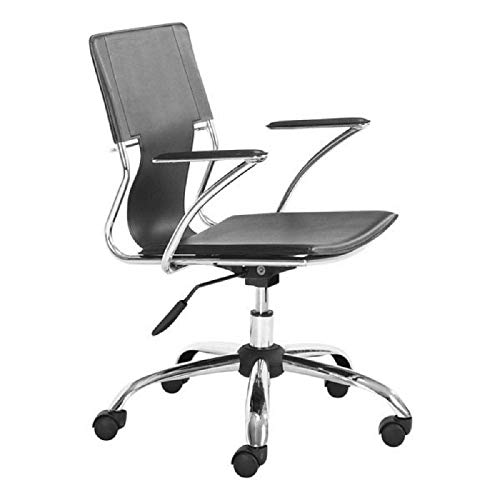 Zuo Modern 205181 Trafico Office Chair, One Size, Black ()