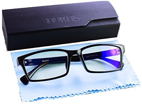 Blue Light Blocking Computer Glasses by Bukos - ORIGINALS - Men / Women - HD ALL DAY Protection - FDA Approved - Sleep Better - Reduce Eye strain, Glare, Fog - Filter UV - (0.00) - 100% Guaranteed