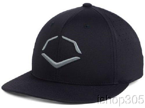 (Wilson Sporting Goods Evoshield Tourney Evolite Flexfit Hat, Black, Large/X-Large(7 3/8-7 5/8))