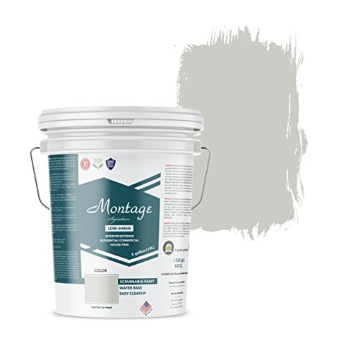 Montage Signature Interior/Exterior Eco-Friendly Paint, Pewter - Low Sheen, 5 Gallon