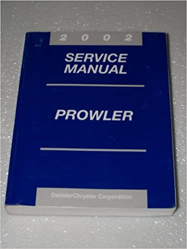 2002 Plymouth Prowler Service Manuals Manual OEM