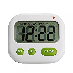 Generic Kitchen Timer Vibrating Alarm Clock with Large LCD Display Count Down Up Pocket Stopwatch Timer for Sleeping