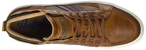 Australian Herren flemming Leather Hohe Sneaker Beige (Tan)