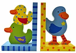 Kid\'s Tatutina Wood Adorably Designed Duckie Bookends