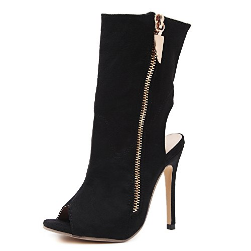 High Shoes Heel Toe Stiletto Strap Ladies Peep Womens Platform Black Sandals size Ankle nvHXx