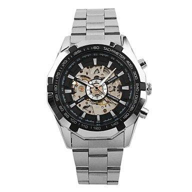 HWCOO Relojes WINNER Hombre El reloj mecánico Reloj de Pulsera Reloj de Vestir Cuerda Automática Huecograbado