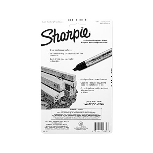 Sharpie 15661PP King Size Permanent Marker, Chisel Tip, Black, 4-Count by Sharpie (Image #6)
