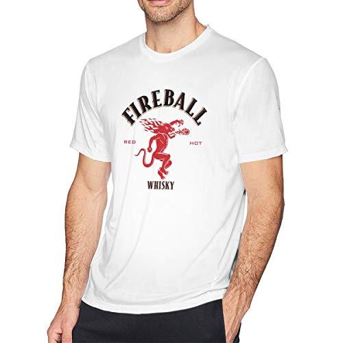 Anquyiceng Fireball-Cinnamon-Whisky-Logo Mens T-Shirt White 3XL