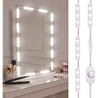 Led Vanity Mirror Lights Kit, Hollywood Style Vanity Make Up Light, 10ft Ultra Bright White LED, Dimmable Touch Control Lights Strip, for Makeup Vanity Table & Bathroom Mirror, Mirror Not Included