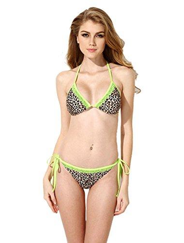 Insun - Conjunto - para mujer Green Leopard