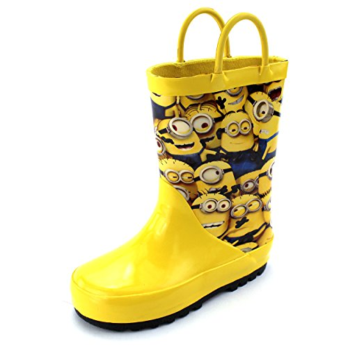 Despicable Me Minions Kids Rain Boots (9/10 M US Toddler) Yellow -
